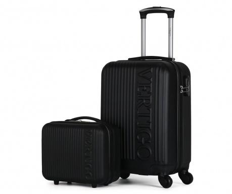 Zurich Black Gurulós bőrönd és kozmetikai táska