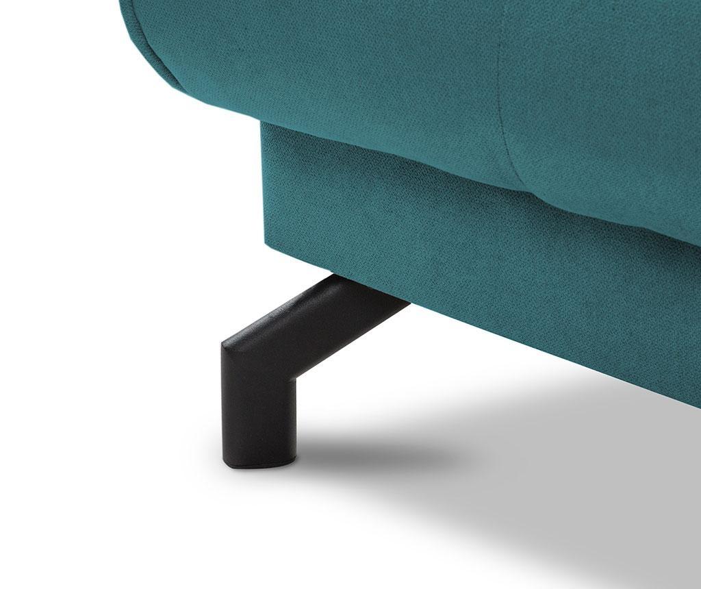 Разтегателен триместен диван Musique Turquoise