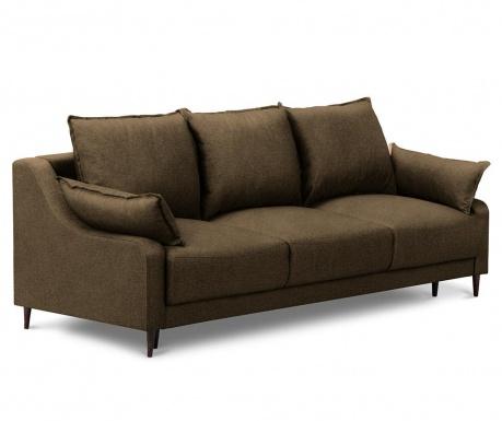 Ancolie Brown Háromszemélyes kihúzható kanapé