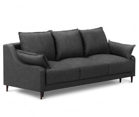 Ancolie Dark Grey Háromszemélyes kihúzható kanapé