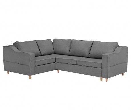 Разтегателен ляв ъглов диван Jonquille Dark Grey