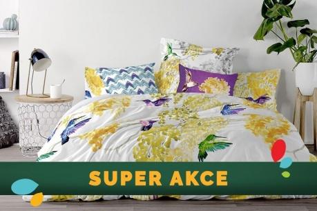 SUPER AKCE: Textilie do ložnice