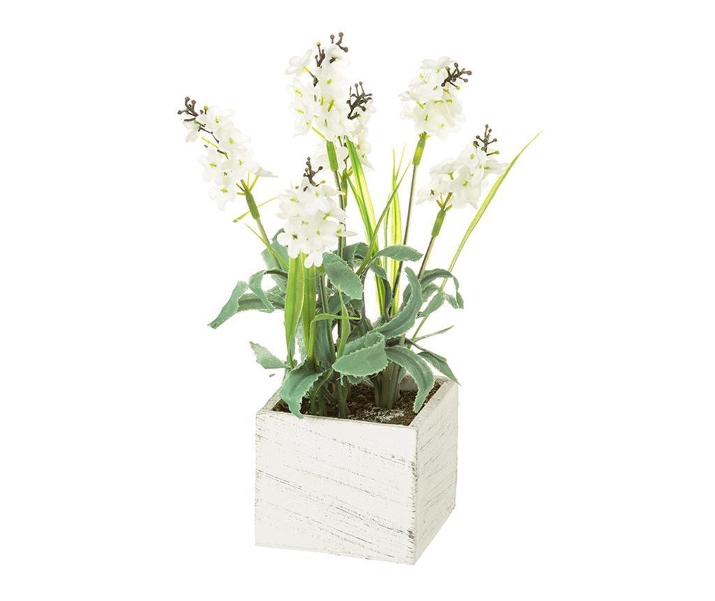 Planta artificiala in ghiveci Lavander Square White