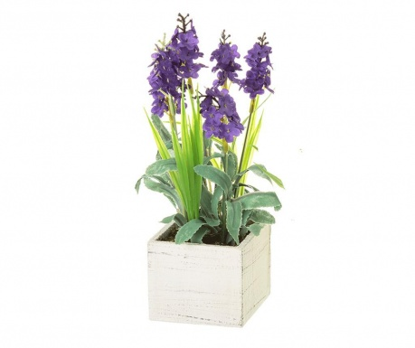Sztuczna roślina w doniczce Lavander Square Purple