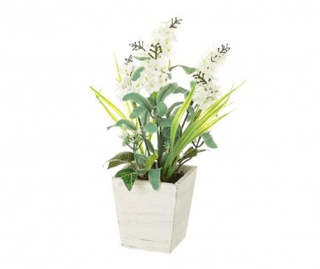 Sztuczna roślina w doniczce Lavander White