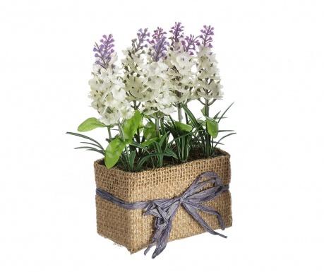 Sztuczna roślina w doniczce Lavander Flowers White