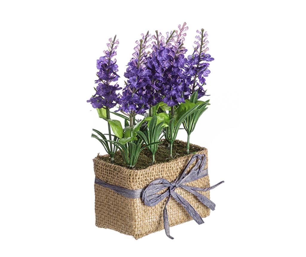 Lavander Flowers Purple Műnövény virágcserépben
