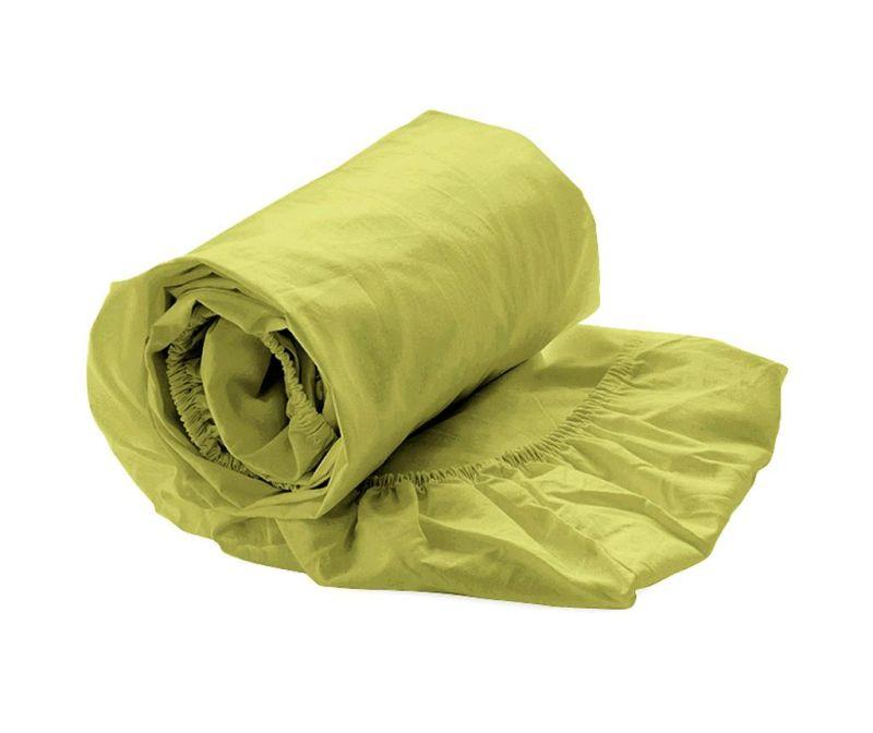 Plahta s elastičnom gumicom Percale Green Oasis 140x200 cm