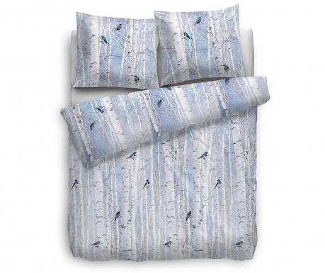Komplet pościeli Single Flannel Extra Square Esposa Swift Blue