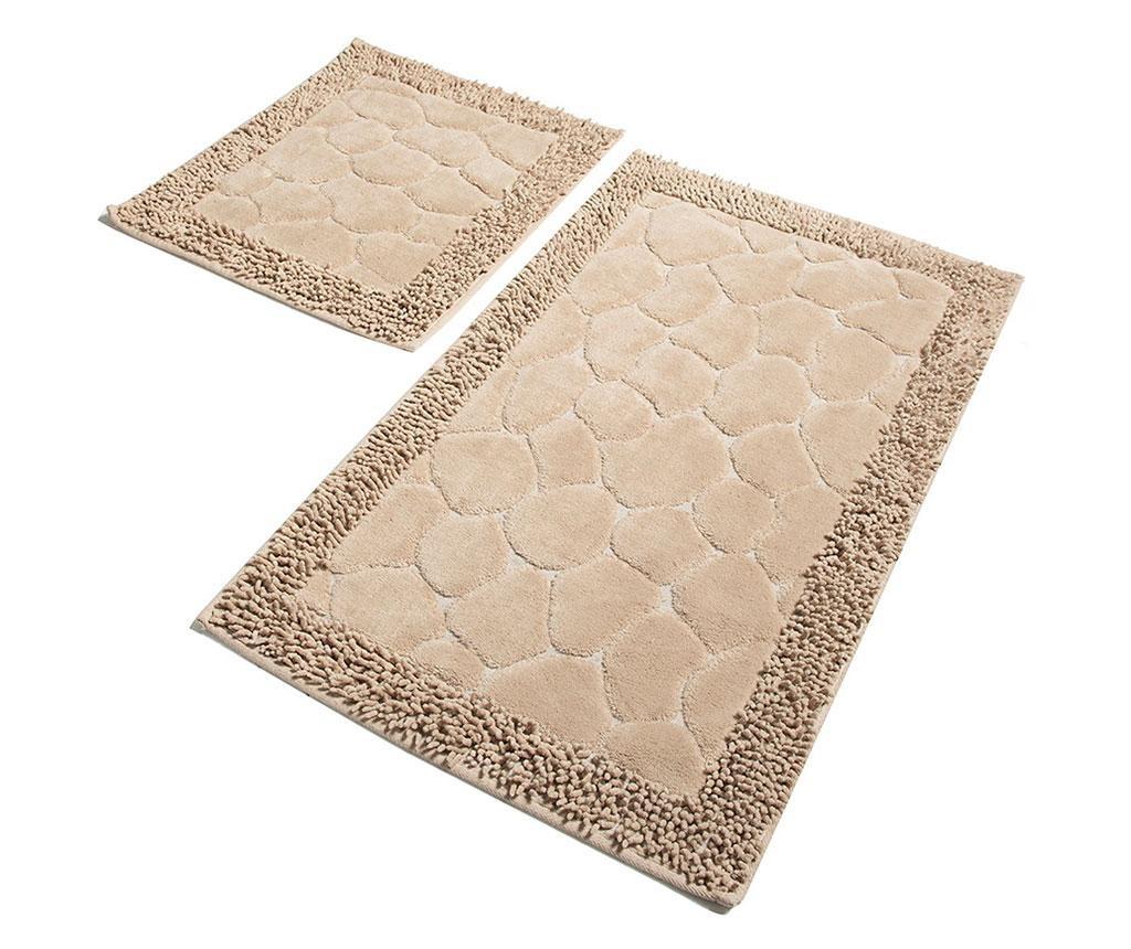 Set 2 kupaonska tepiha Stone Beige