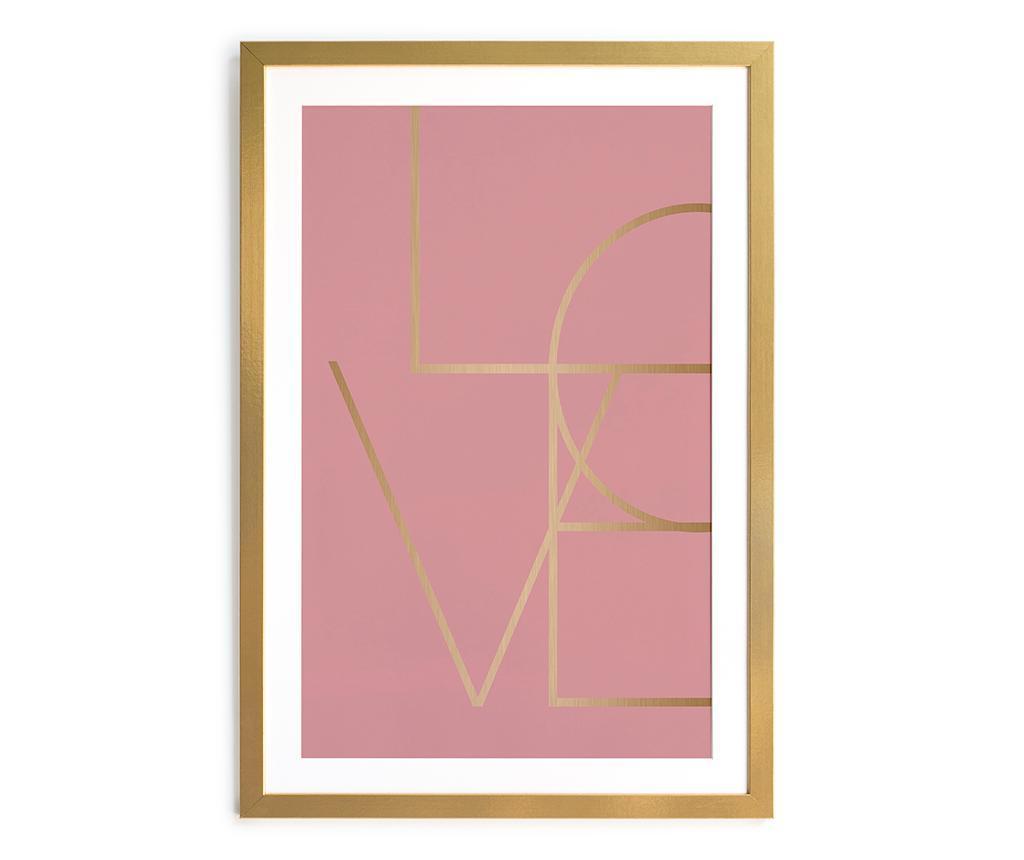 Tablou Dorado Love 40x60 cm - Really Nice Things, Roz