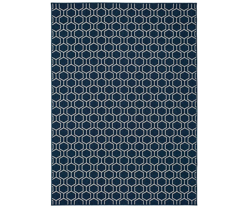 Covor Clhoe Hexagon 120x170 cm - Universal XXI, Albastru