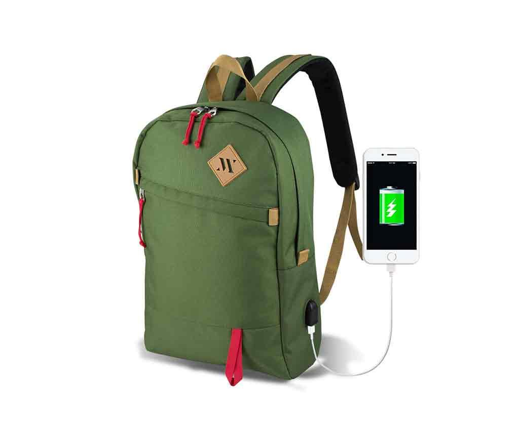 Rucsac USB Abily Green - MyValice, Verde