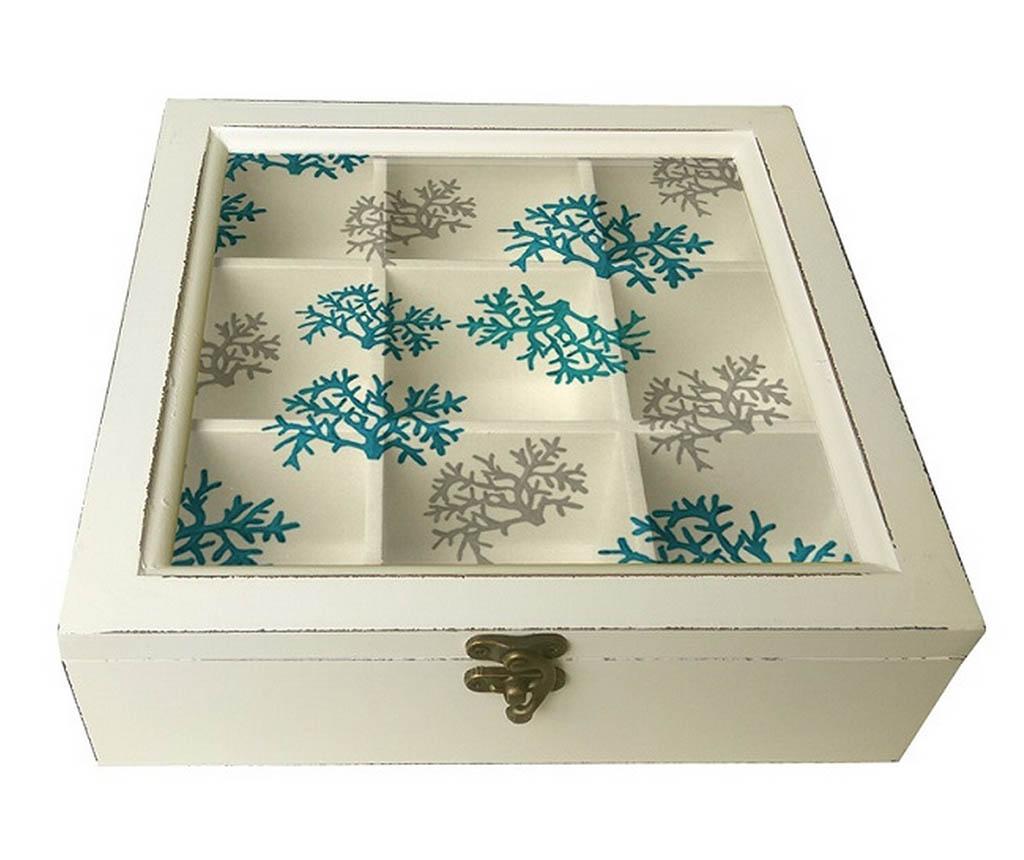 Cutie pentru bijuterii Flake - Garpe Interiores, Alb,Albastru