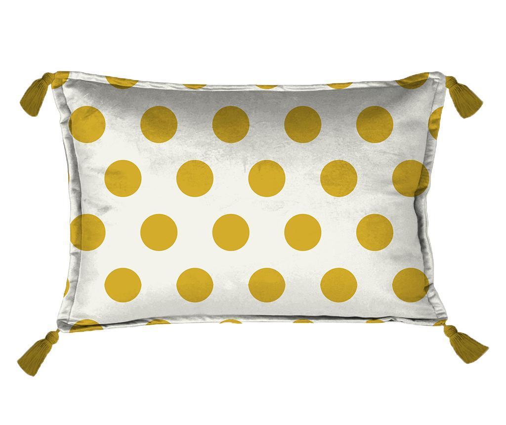 Perna decorativa Golden Dots 35x50 cm - Really Nice Things, Alb