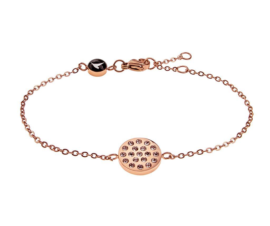Bratara Inlaid Circle Rose Gold - Emily Westwood, Galben & Auriu
