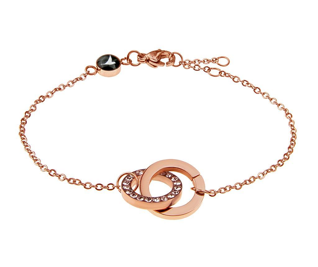 Bratara Rings Rose Gold - Emily Westwood, Galben & Auriu