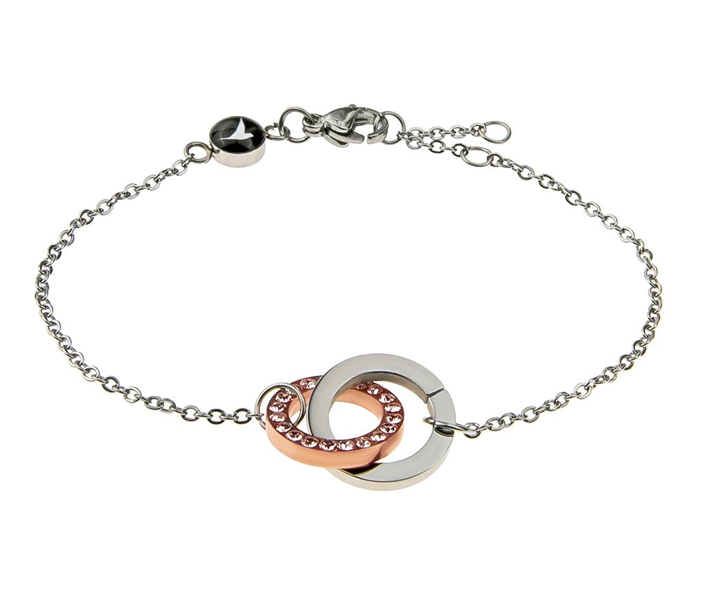 Bratara Rings Rose Silver - Emily Westwood, Galben & Auriu,Gri & Argintiu