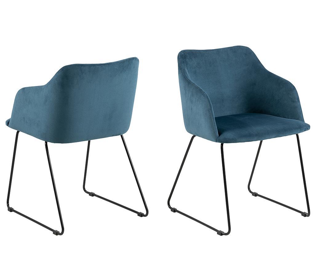 Set 2 scaune Casablanca Blue - actona, Albastru