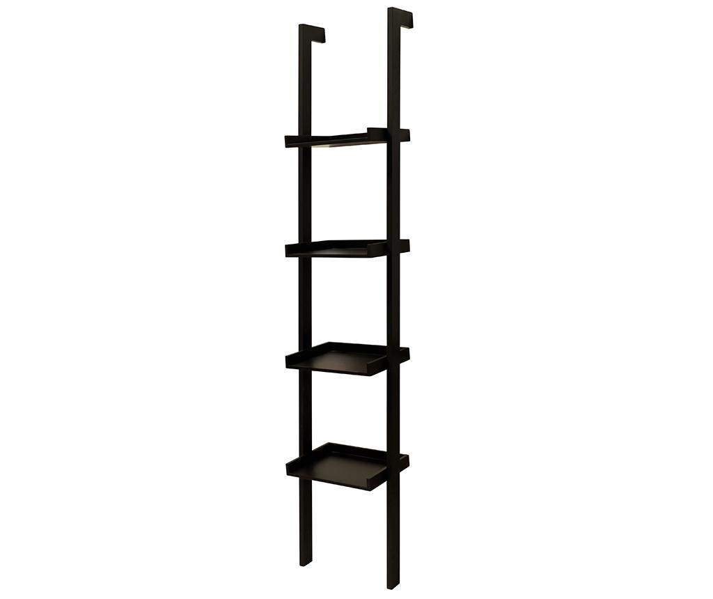 Etajera Staircase Narrow Black - actona, Negru