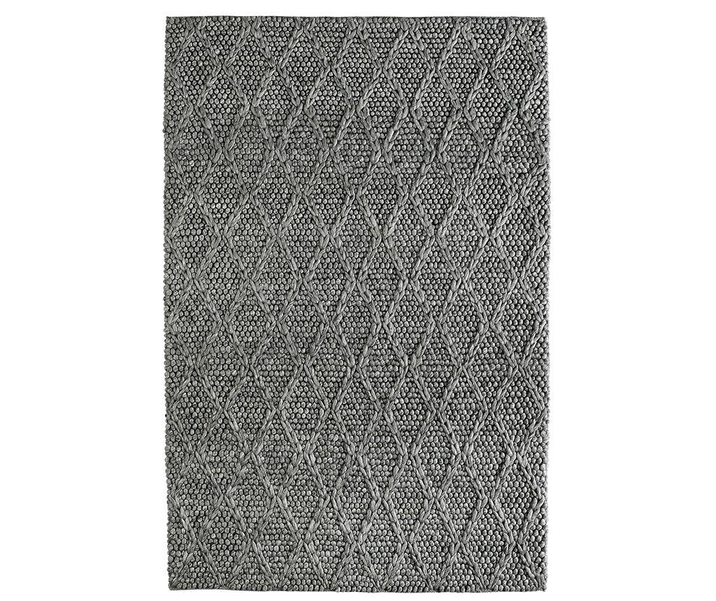 Covor My Studio Graphite 80x150 cm - Obsession, Gri & Argintiu