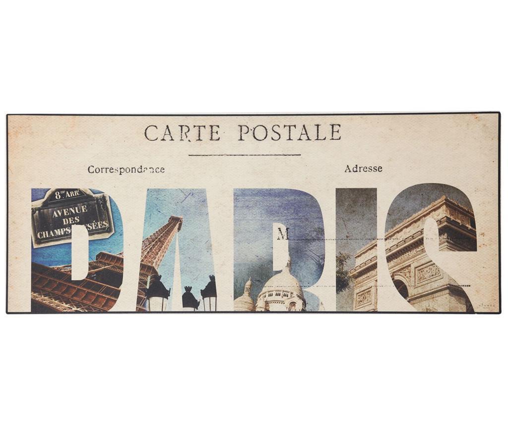 Linoleum Vinyl Postcard 50x180 cm - Viva, Gri & Argintiu