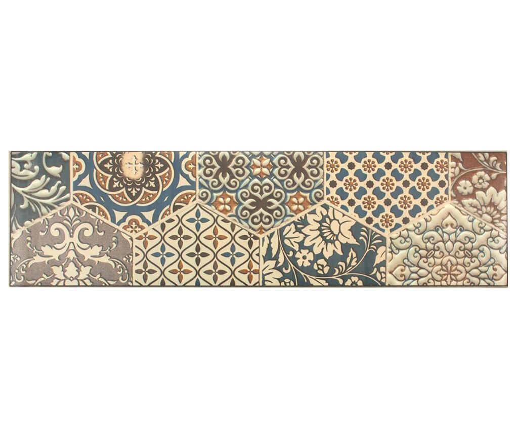 Linoleum Vista Tiles 50x180 cm - Viva, Multicolor
