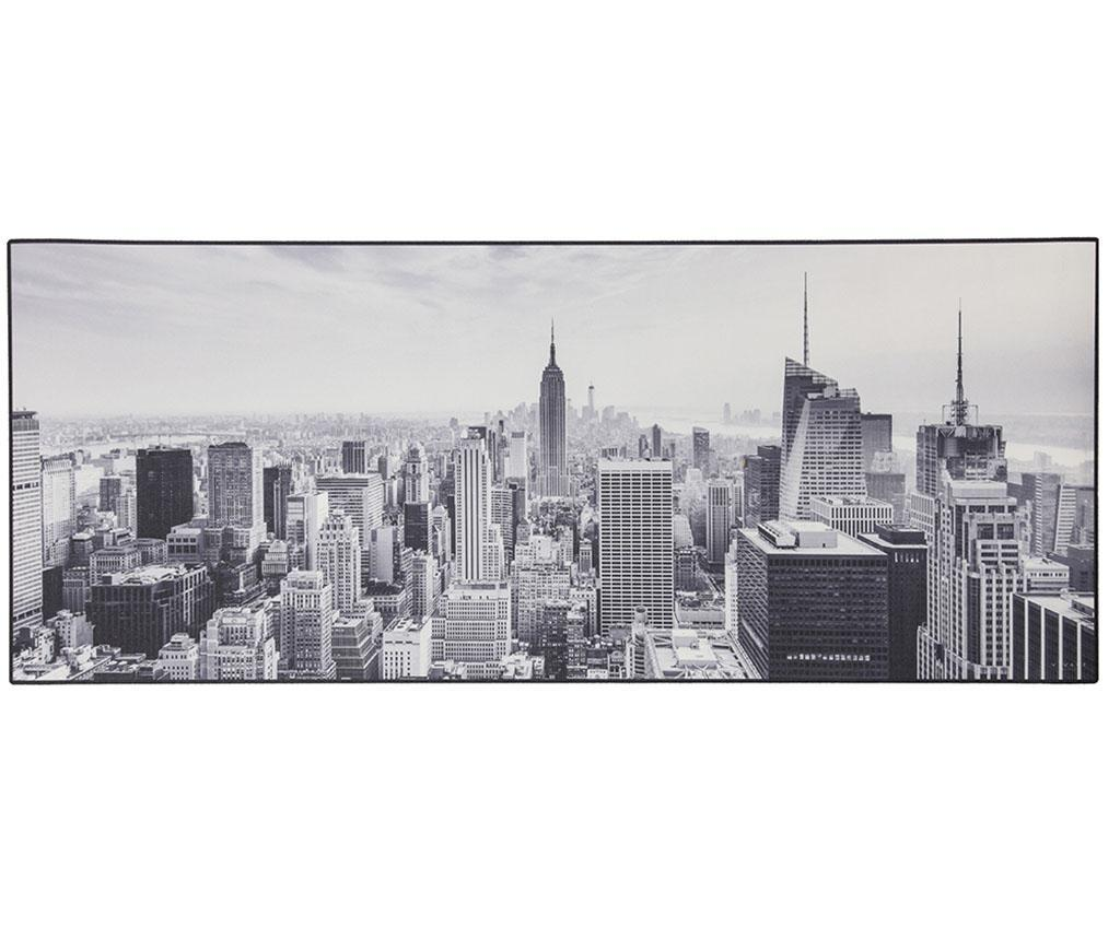 Linoleum Vista NY 50x180 cm - Viva, Gri & Argintiu