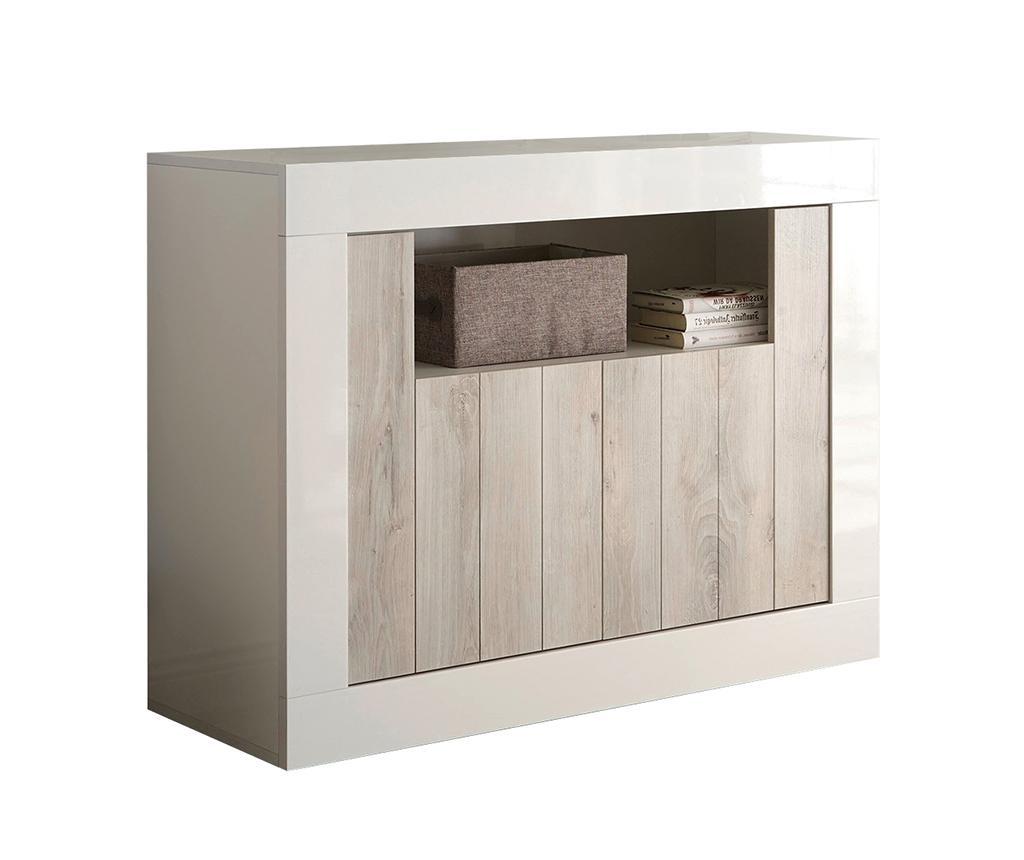 Consola Lipari - TFT Home Furniture, Alb,Crem