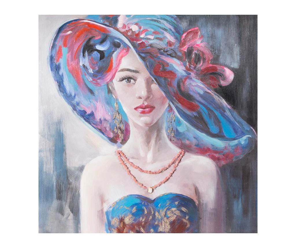 Tablou Mysterious Lady 90x90 cm - Eurofirany, Multicolor
