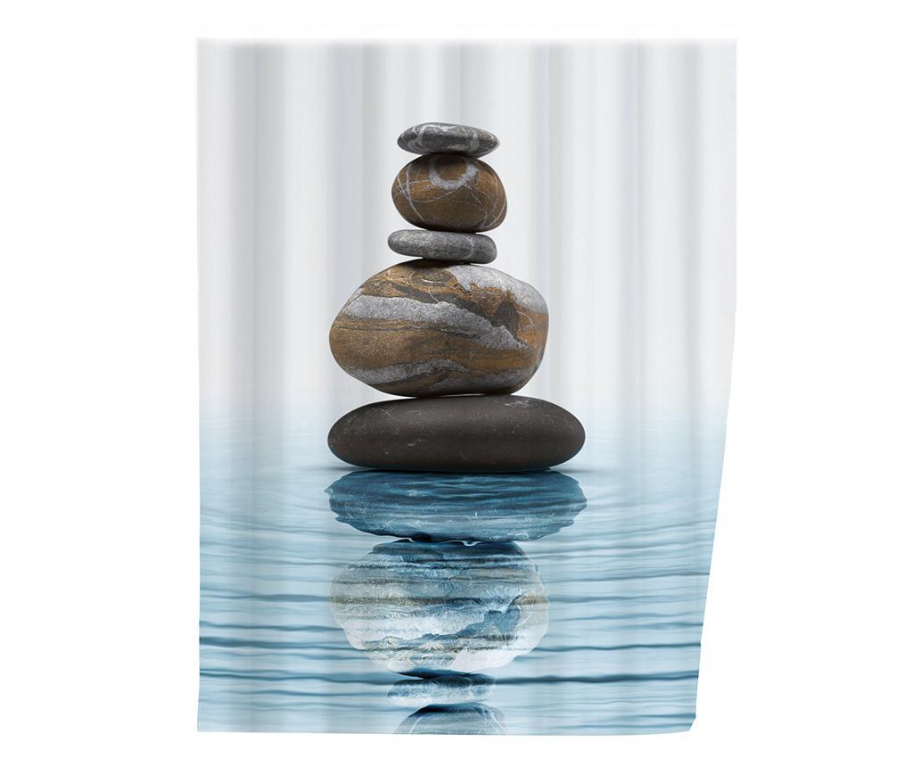 Perdea de dus Meditation 180x200 cm - Wenko, Albastru