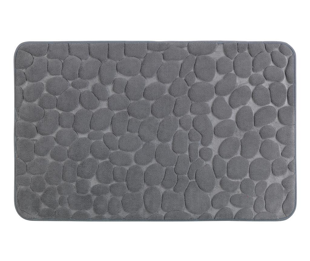 Covoras de baie Pebbles Grey 50x80 cm - Wenko, Gri & Argintiu