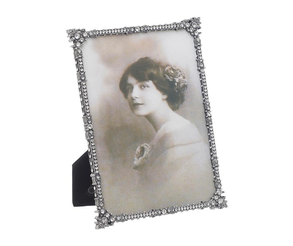 Rama foto Strass Antique L - inart, Gri & Argintiu de la inart
