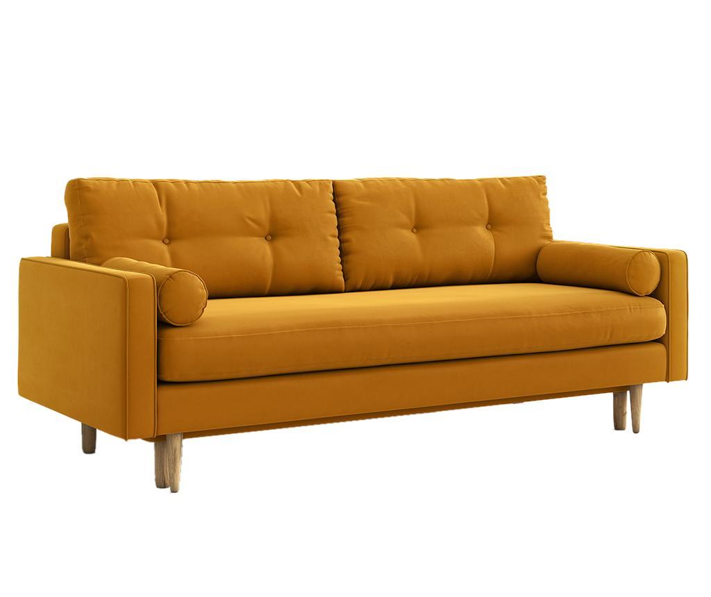 Canapea Extensibila Esme Riviera Yellow Galben Auriu - 3567