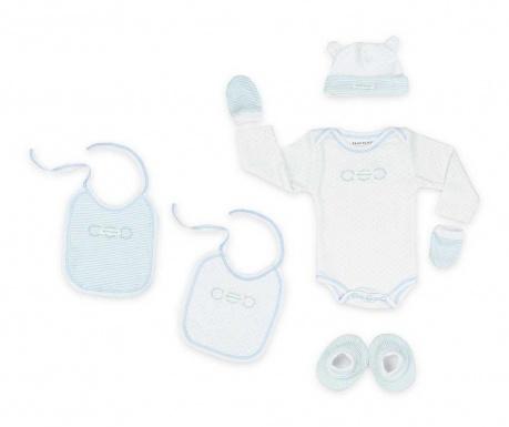 6-delni komplet za dojenčka Tres Chic Blue 0-1 mesecev