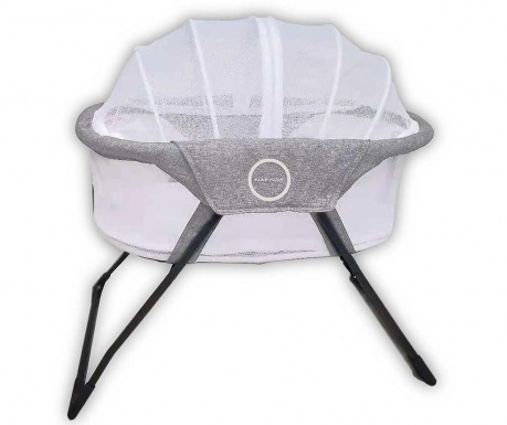 Zložljiva otroška posteljica Liso Nest Grey