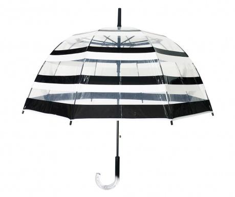 Deštník Smati Black and White Stripes