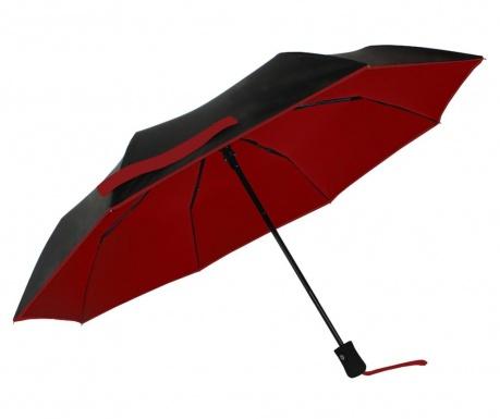 Teleskopický deštník Smati Classic Black and Red