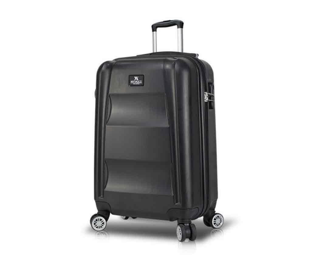 USB Hugh Black Gurulós bőrönd