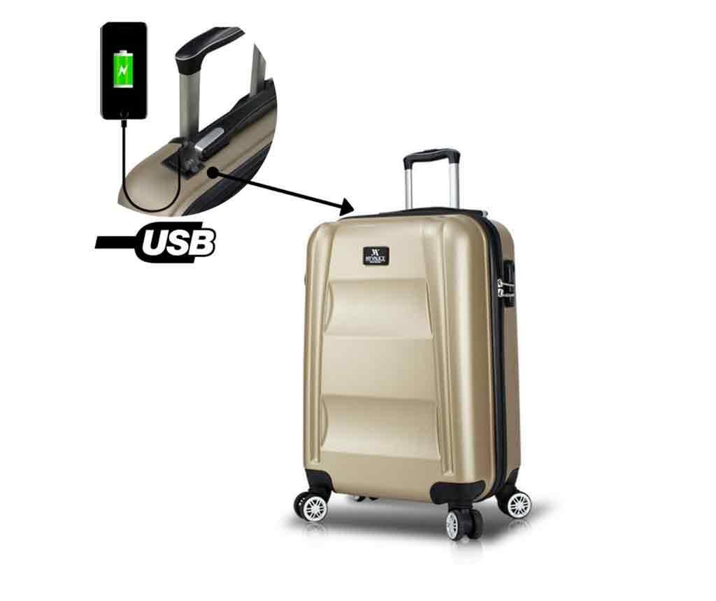 Putna torba s kotačićima USB Hugh Gold