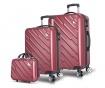 Set - 2 kovčka na kolesih in toaletna torba Alice Claret Red