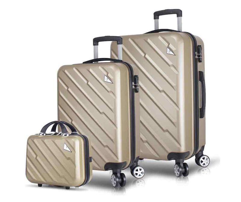 Set - 2 kovčka na kolesih in toaletna torba Alice Gold