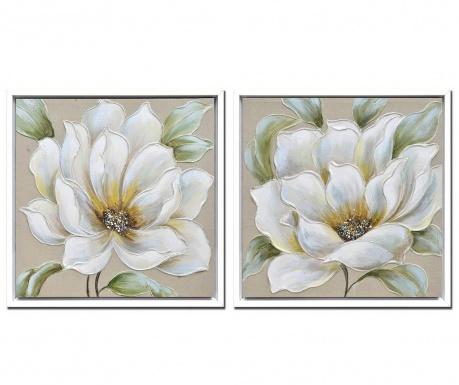 Σετ 2 πίνακες Flora 63x63 cm