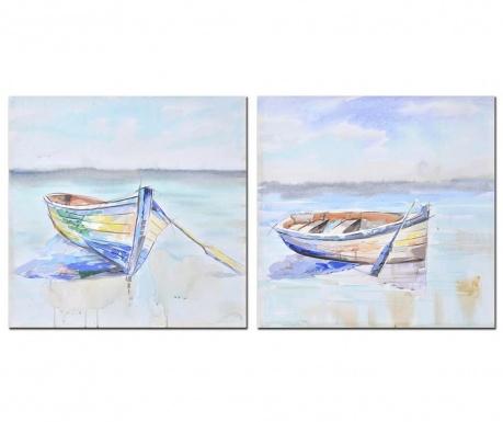 Σετ 2 πίνακες Boat 60x60 cm