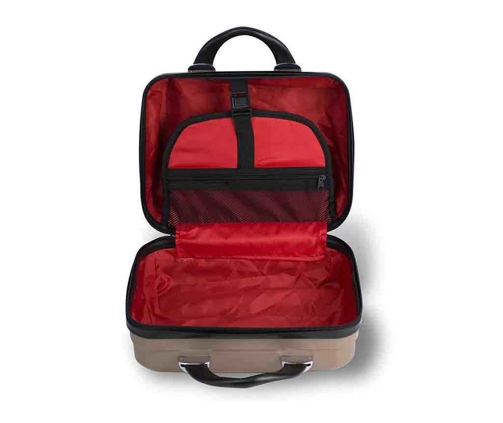 Zestaw walizka na kółkach i kosmetyczka Alice Black