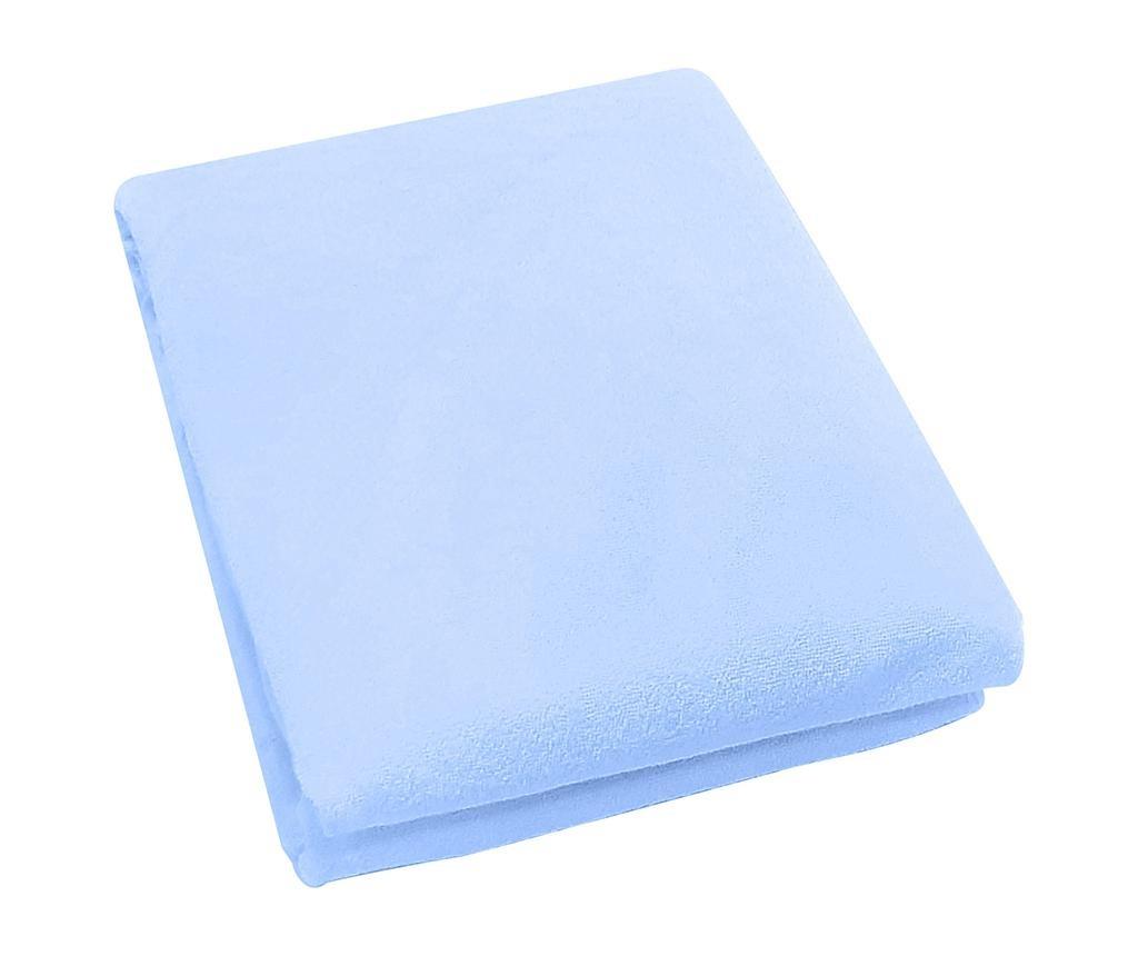 Cearsaf de patut cu elastic Rosa Fitty Blue 65x128 cm