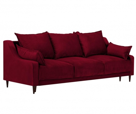 Разтегателно триместно канапе Freesia Red
