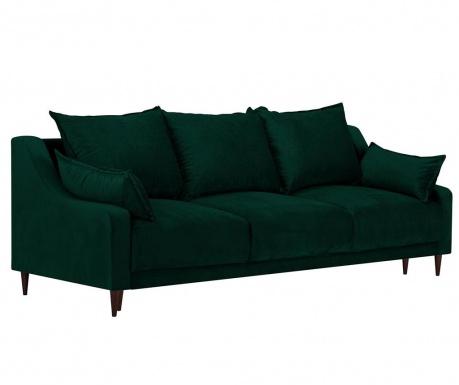 Rozkładana kanapa trzyosobowa Freesia Bottle Green