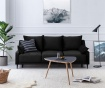 Canapea extensibila 3 locuri Freesia Black