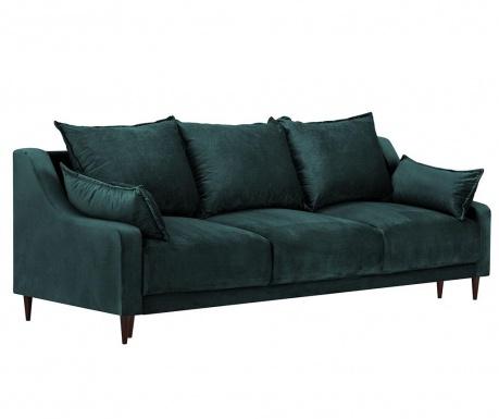 Freesia Petrol Háromszemélyes kihúzható kanapé